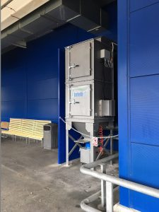 dust extraction system for wood working workshop