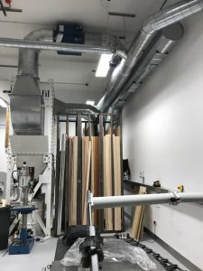 UCL Wood Dust Extraction